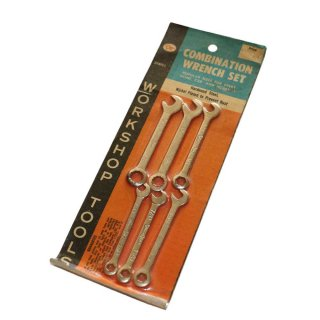 OT COMBINATION WRENCH SET(Made in U.S.A.)25cm×8.9cm  Silver