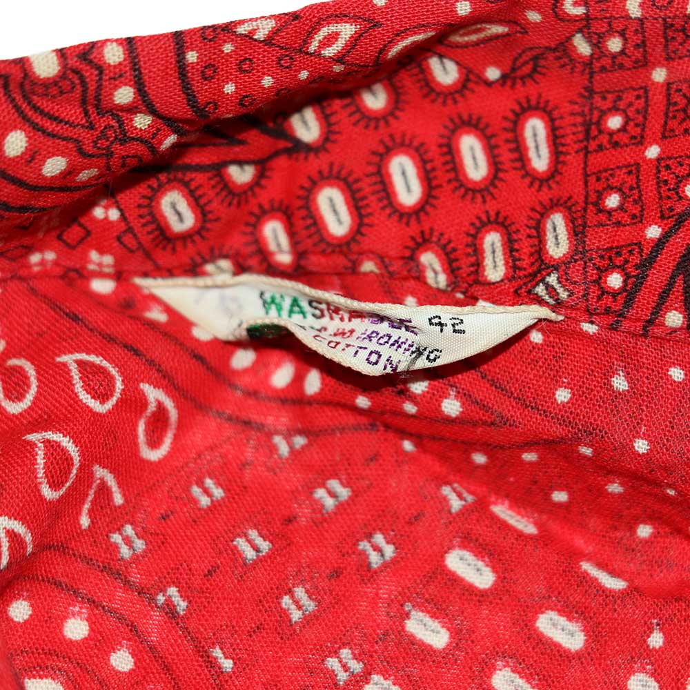 w-means(ダブルミーンズ) 60's unknown コットンノースリーブシャツ  表記42(Womens)Red  詳細画像3