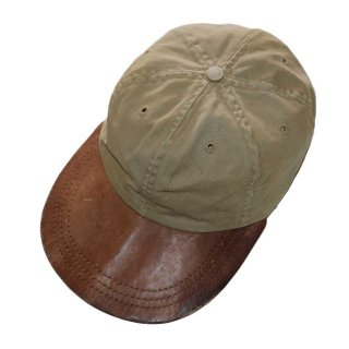RRL 100%コットンキャップ (Made in U.S.A.)表記L  Beige×Brown