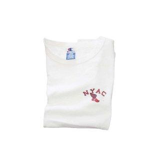 N.Y.A.C.  100%コットン半袖Tシャツ (COSTA RICA)表記L   しろ