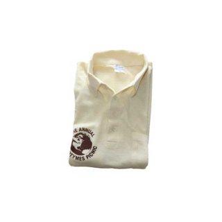 70's THE ANNUAL GOODTYMES PICNIC 半袖ポロシャツ  表記M  生成り色