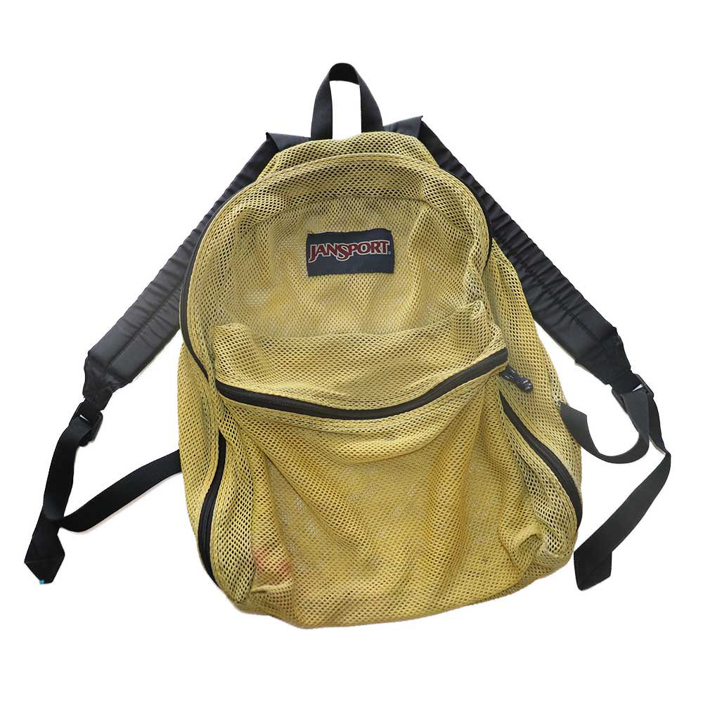 w-means(ダブルミーンズ) JANSPORT ナイロンメッシュバッグパック  one size  褪黄色 詳細画像