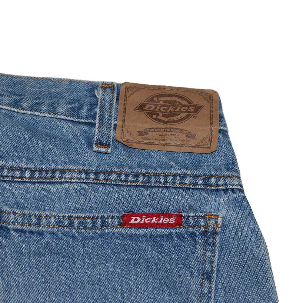 w-means(ダブルミーンズ) Dickies デニムショーツ(MADE IN MEXICO)表記32  ライトブルー 詳細画像3