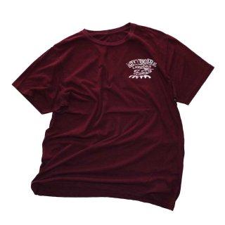 CIRCUS LIQUORS  コットン半袖Tシャツ  表記なし   臙脂色