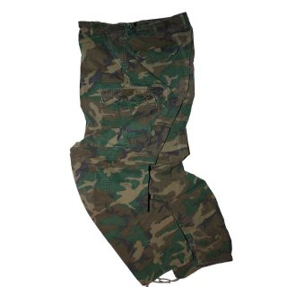 60's US Military Rip-Stop Jungle Fatigue Pants  表記なし  Woodland Camo