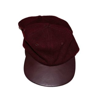 BRONER WOOL CAP (Made in U.S.A.)one size fits all  Burgundy