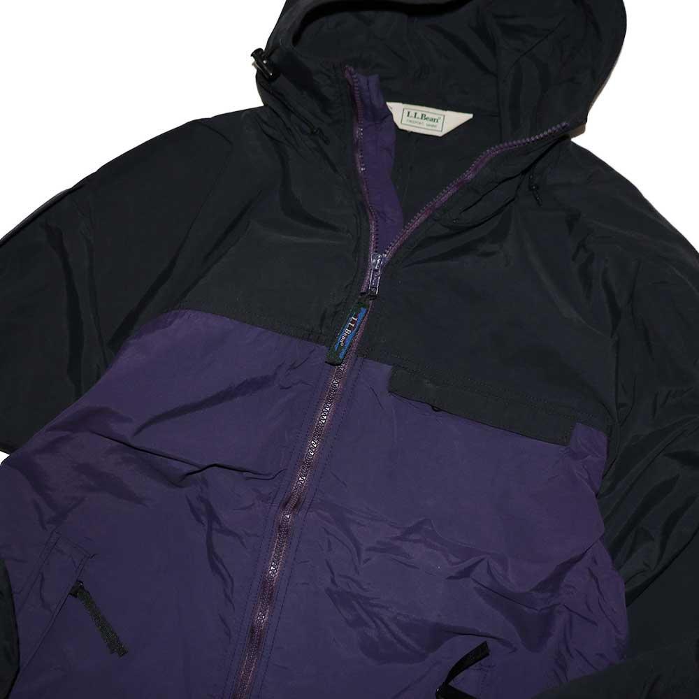 w-means(ダブルミーンズ) L.L.Bean ナイロンジャケット (Made in U.S.A.)表記M  黒×紫 詳細画像6