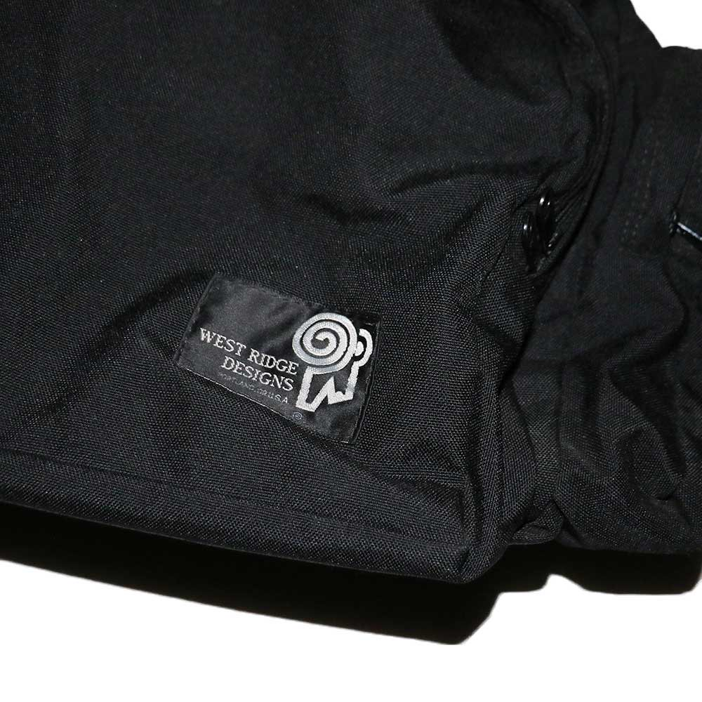 w-means(ダブルミーンズ) WEST RIDGE DESIGNS ナイロンショルダーバッグ(Made in U.S.A.)one size  Black 詳細画像1
