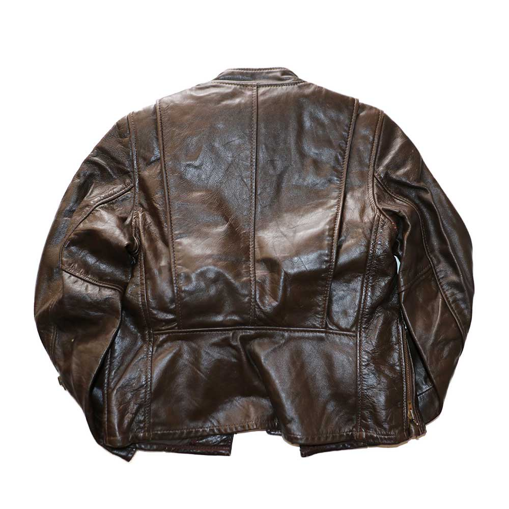 w-means(ダブルミーンズ) BRANDED GARMENTS INC.  シングルレザージャケット(MADE IN U.S.A.)表記10   BROWN 詳細画像1