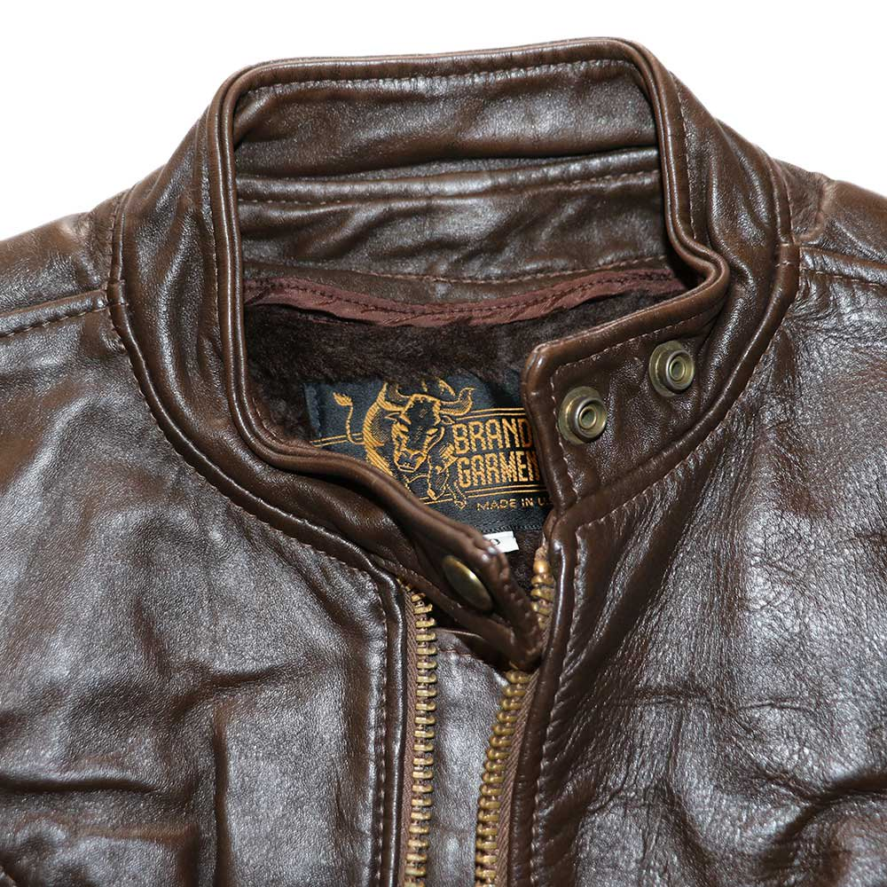 w-means(ダブルミーンズ) BRANDED GARMENTS INC.  シングルレザージャケット(MADE IN U.S.A.)表記10   BROWN 詳細画像3