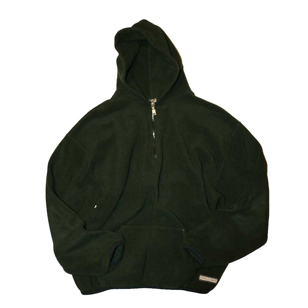 w-means(ダブルミーンズ) RUSSELL ATHLETIC  フリースプルオーバーパーカ(Made in U.S.A.)表記xL  olive 詳細画像1