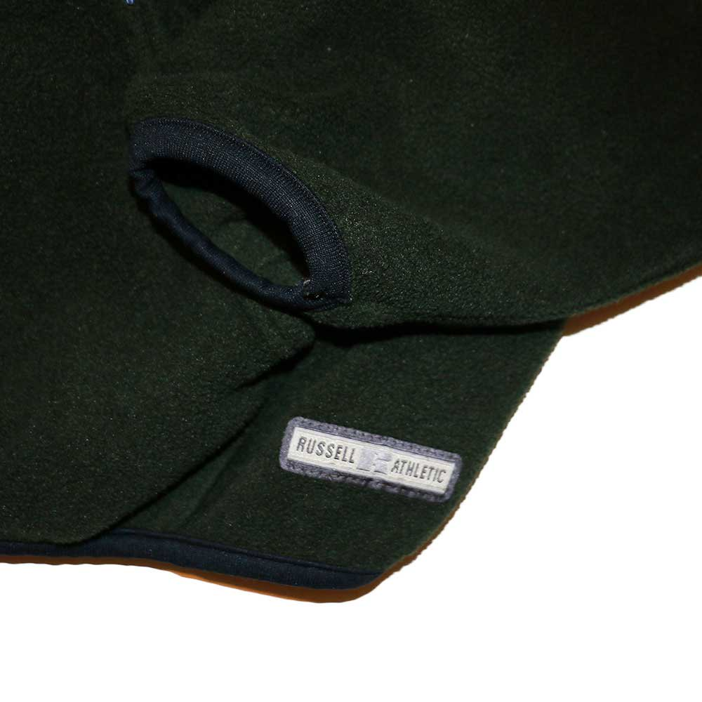w-means(ダブルミーンズ) RUSSELL ATHLETIC  フリースプルオーバーパーカ(Made in U.S.A.)表記xL  olive 詳細画像5