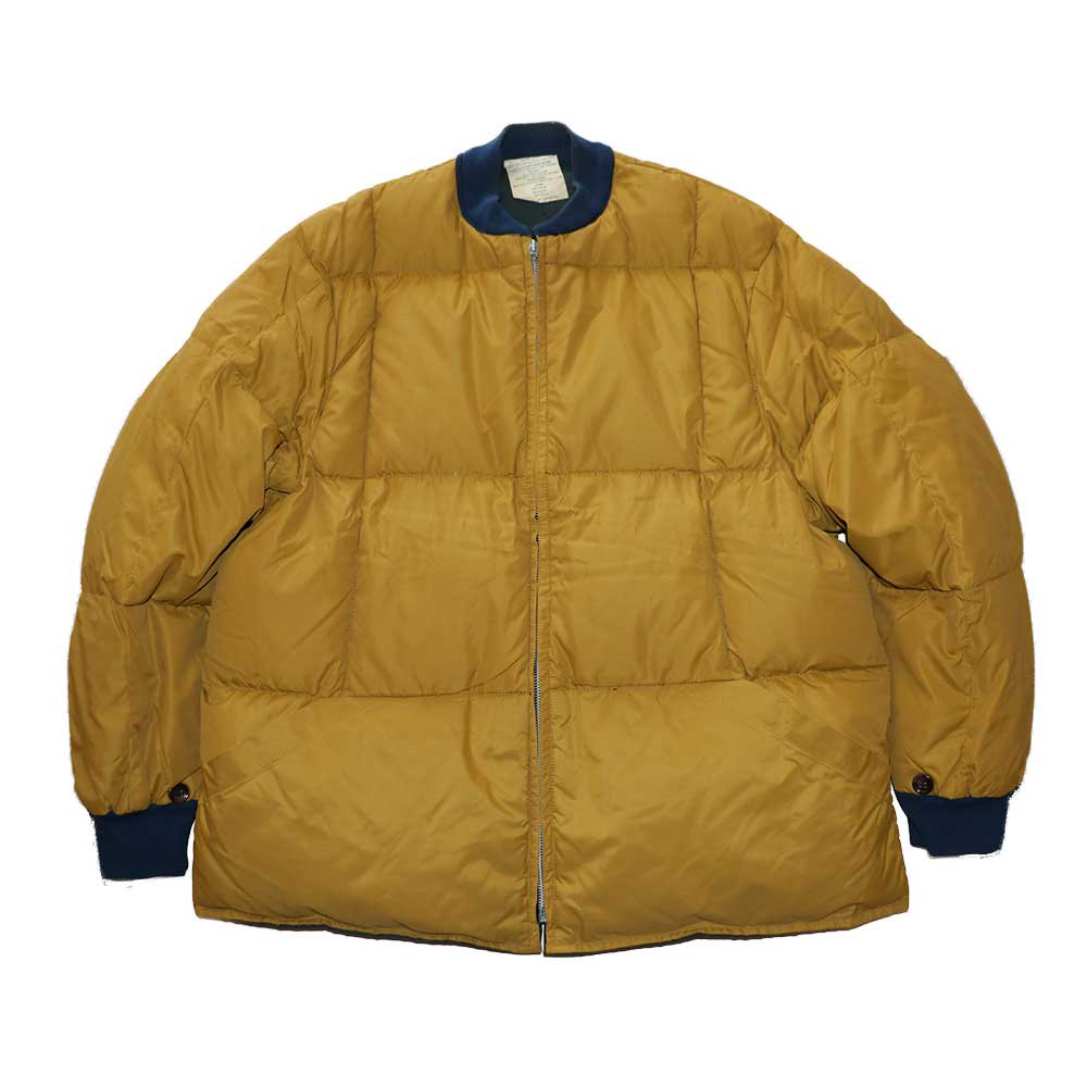 w-means(ダブルミーンズ) unknown INNER JACKET(リバーシブル)表記なし(Made in CANADA)マスタード×ネイビー 詳細画像