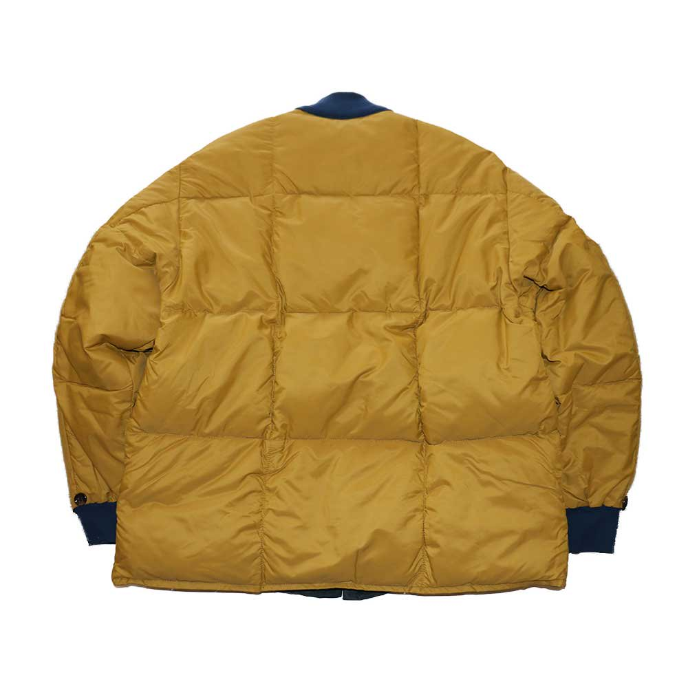 w-means(ダブルミーンズ) unknown INNER JACKET(リバーシブル)表記なし(Made in CANADA)マスタード×ネイビー 詳細画像3