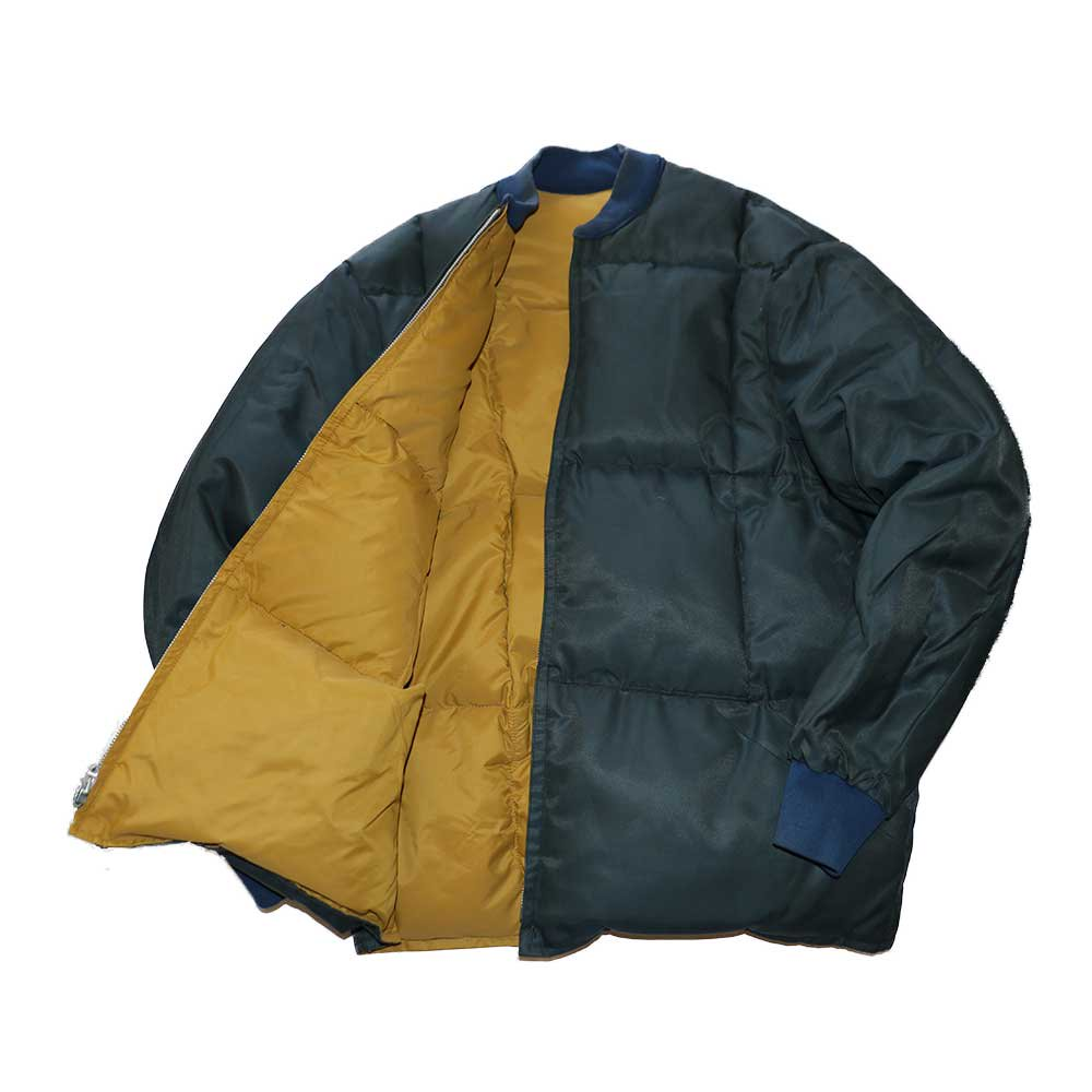 w-means(ダブルミーンズ) unknown INNER JACKET(リバーシブル)表記なし(Made in CANADA)マスタード×ネイビー 詳細画像4