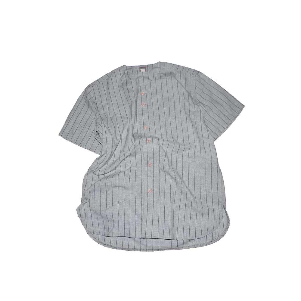 w-means(ダブルミーンズ) EBBETS FIELD ウールベースボールシャツ(Made in U.S.A.)表記xL  ストライプス柄 詳細画像1
