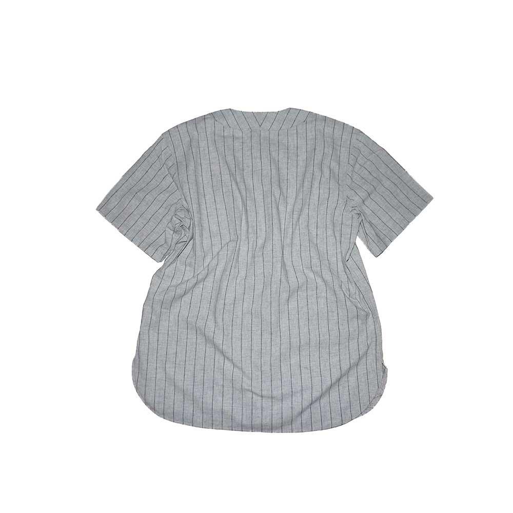 w-means(ダブルミーンズ) EBBETS FIELD ウールベースボールシャツ(Made in U.S.A.)表記xL  ストライプス柄 詳細画像2