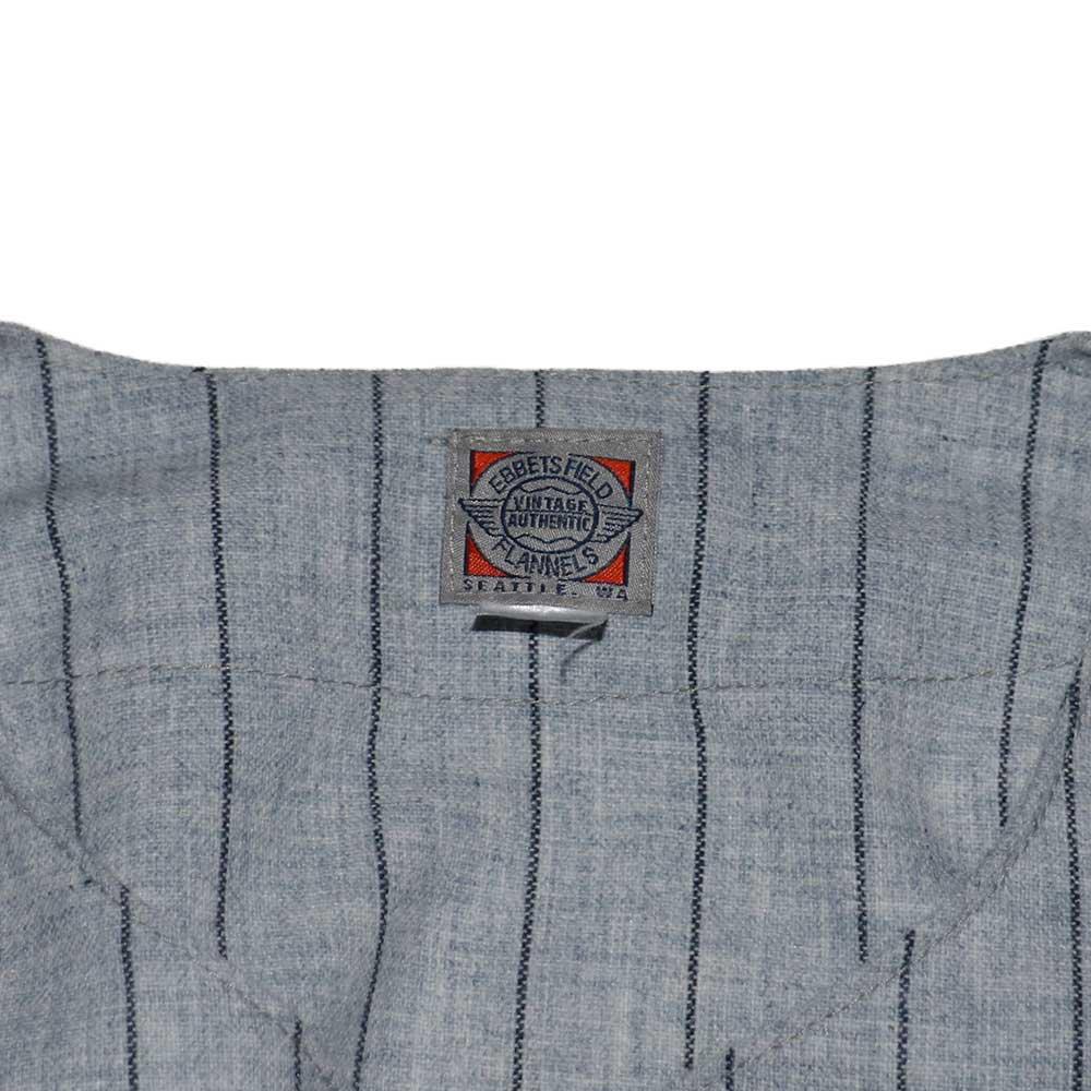 w-means(ダブルミーンズ) EBBETS FIELD ウールベースボールシャツ(Made in U.S.A.)表記xL  ストライプス柄 詳細画像3