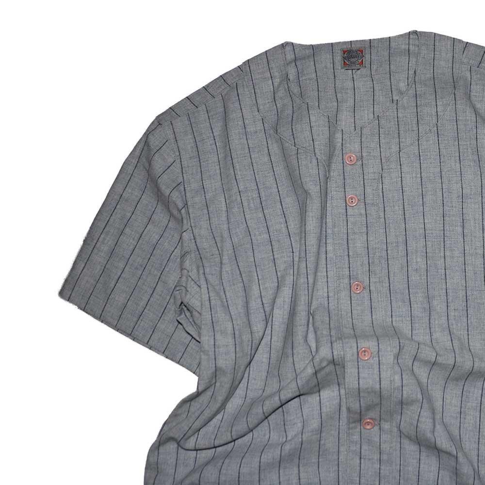 w-means(ダブルミーンズ) EBBETS FIELD ウールベースボールシャツ(Made in U.S.A.)表記xL  ストライプス柄 詳細画像4