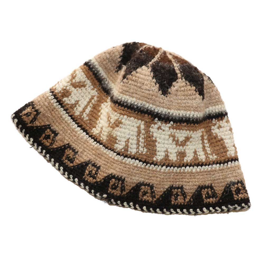w-means(ダブルミーンズ) APAZA ALPACA HAT(MADE IN PERU)one size 総柄 詳細画像