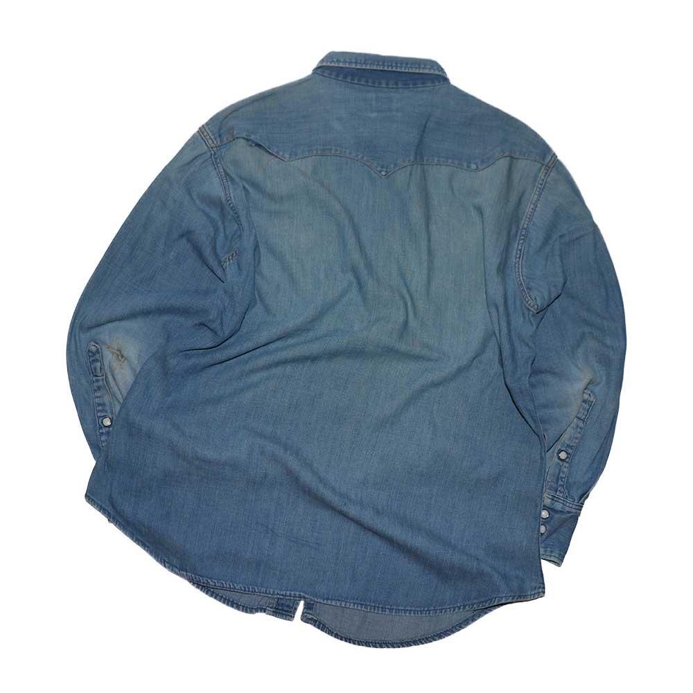 w-means(ダブルミーンズ) MAVERICK  デニムウエスタンシャツ (Made in U.S.A.)表記16ハーフ  デニム 詳細画像5