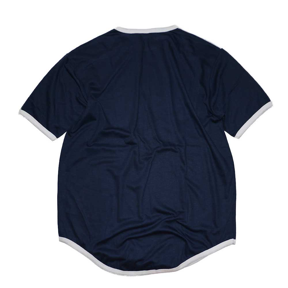 w-means(ダブルミーンズ) Campus 50-50 Pro adion 半袖Tシャツ(Made in U.S.A.)表記xL Navy×White×Red 詳細画像3