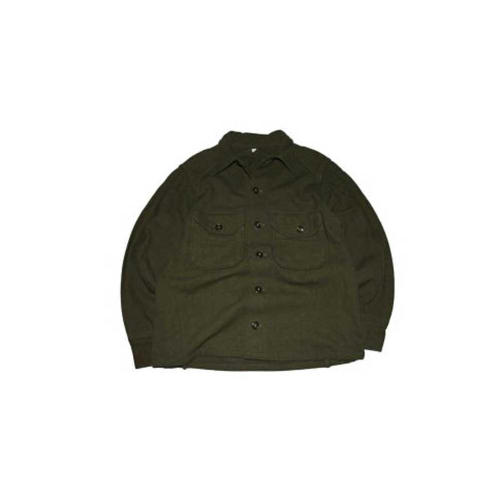 w-means(ダブルミーンズ) 60's U.S. ARMY ウールシャツジャケット  表記M  Armygreen 詳細画像