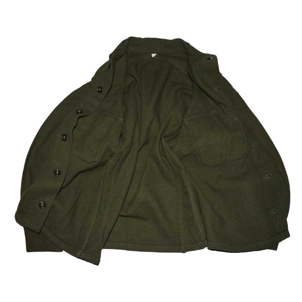 w-means(ダブルミーンズ) 60's U.S. ARMY ウールシャツジャケット  表記M  Armygreen 詳細画像1