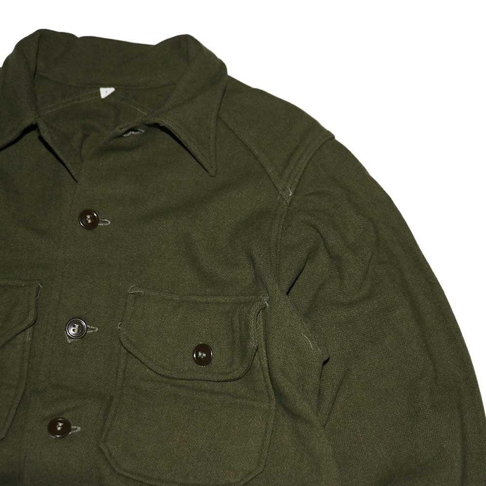 w-means(ダブルミーンズ) 60's U.S. ARMY ウールシャツジャケット  表記M  Armygreen 詳細画像4
