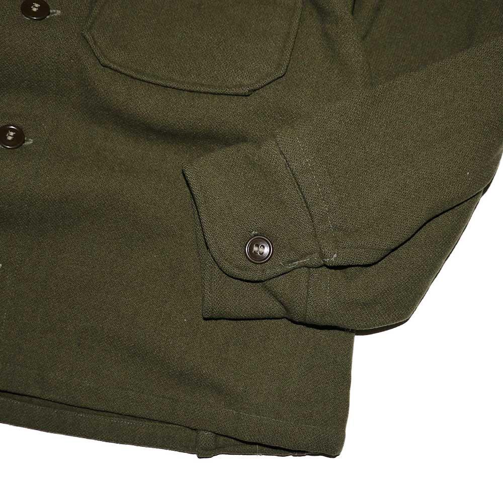 w-means(ダブルミーンズ) 60's U.S. ARMY ウールシャツジャケット  表記M  Armygreen 詳細画像5