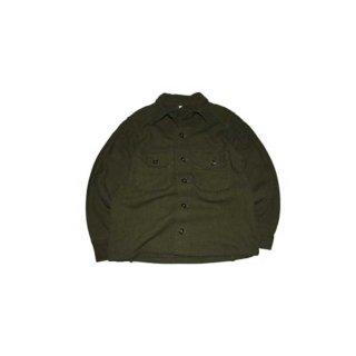 60's U.S. ARMY ウールシャツジャケット  表記M  Armygreen