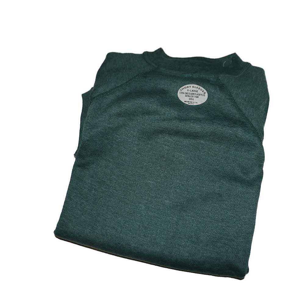 w-means(ダブルミーンズ) unknown short sleeves スウェット(Made in U.S.A.)表記xL Forestgreen 詳細画像2