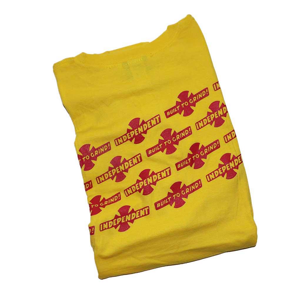 w-means(ダブルミーンズ) NHS  INDEPENDENT コットン半袖Tシャツ  表記xL  Yellow 詳細画像5