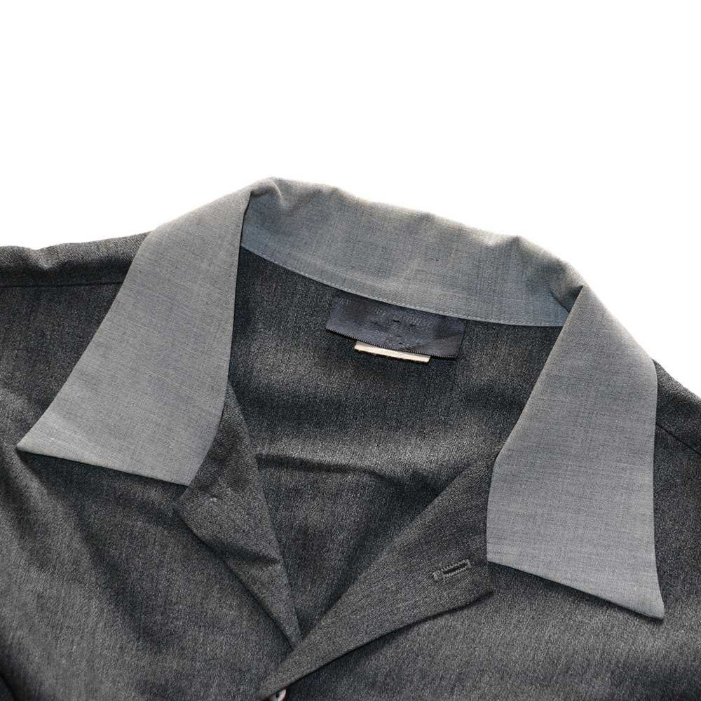 w-means(ダブルミーンズ) KWEEHBO CLOTHING CO. レーヨンオープンカラーシャツ( Made in U.S.A.)表記L  Charcoal-gray 詳細画像2