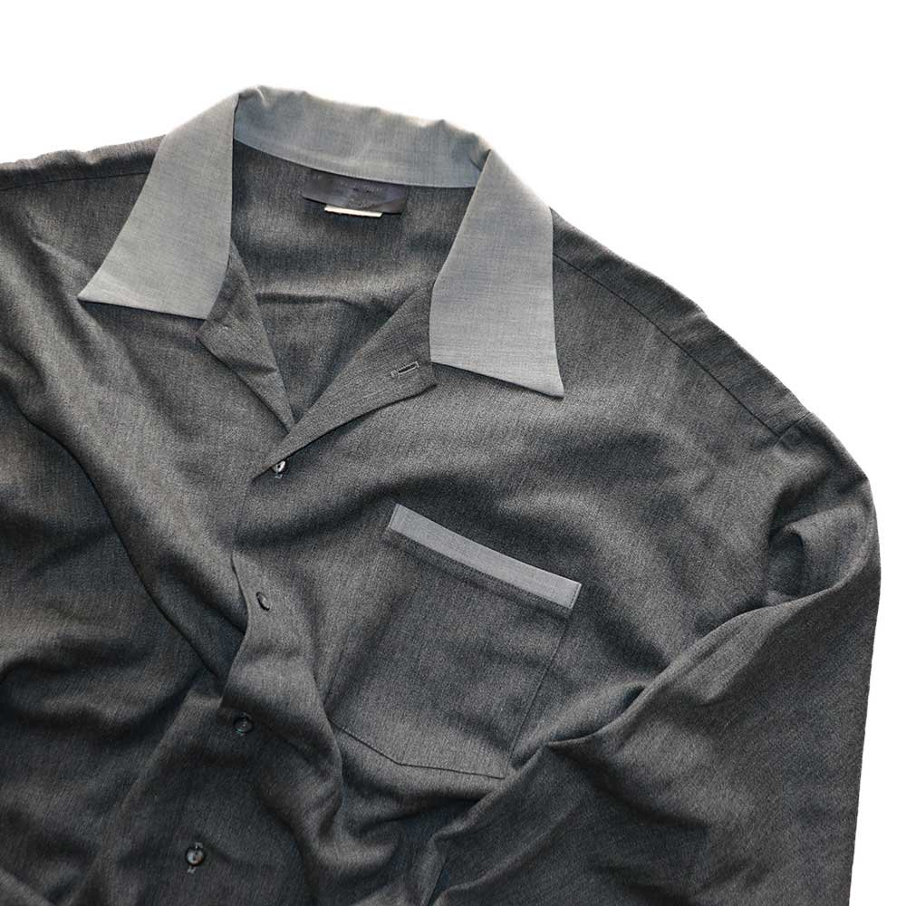 w-means(ダブルミーンズ) KWEEHBO CLOTHING CO. レーヨンオープンカラーシャツ( Made in U.S.A.)表記L  Charcoal-gray 詳細画像3