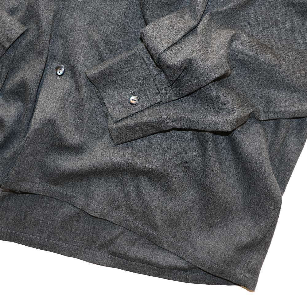 w-means(ダブルミーンズ) KWEEHBO CLOTHING CO. レーヨンオープンカラーシャツ( Made in U.S.A.)表記L  Charcoal-gray 詳細画像4