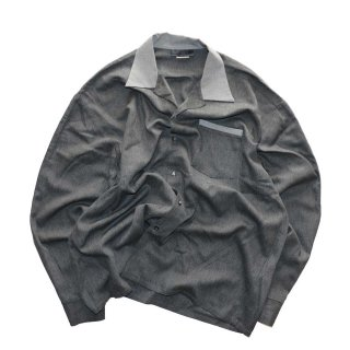 KWEEHBO CLOTHING CO. レーヨンオープンカラーシャツ( Made in U.S.A.)表記L  Charcoal-gray