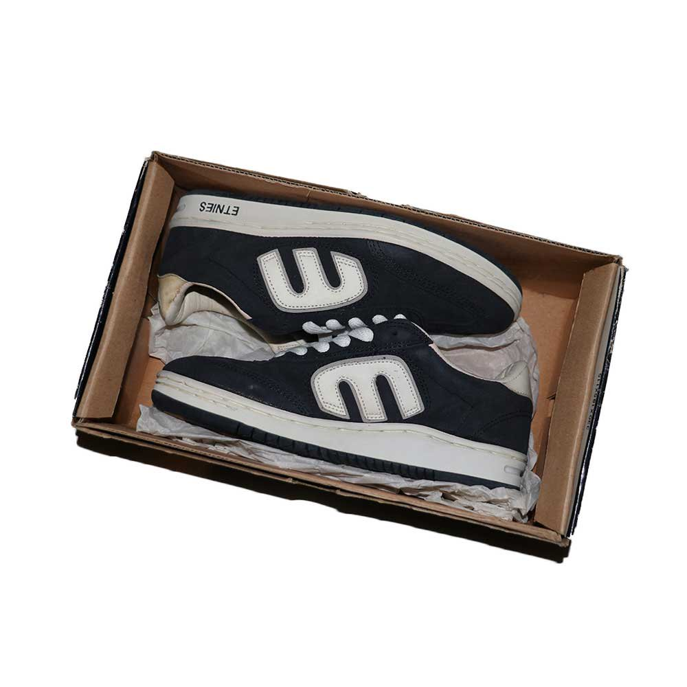 w-means(ダブルミーンズ) ETNIES SKATE SHOES (Dead Stock)表記7ハーフ NAVY   詳細画像