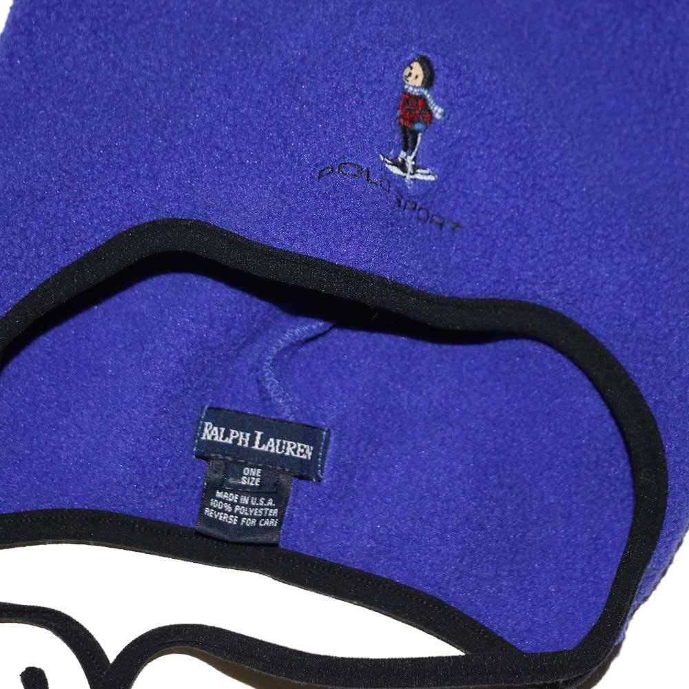 w-means(ダブルミーンズ) POLO SPORT フリースキャップ (Made in U.S.A.)表記ONE SIZE  Royal 詳細画像3