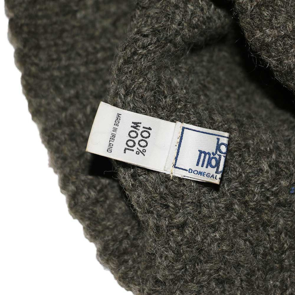 w-means(ダブルミーンズ) John Molloy 100% Wool ニットキャップ(Made in IRELAND)one size  灰緑 詳細画像3