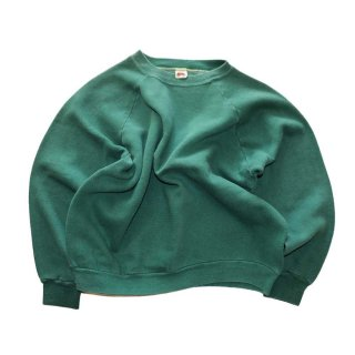 FRUIT OF THE LOOM ALL COTTON クルーネックスウェット  表記L  Green