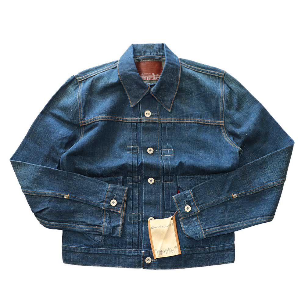 w-means(ダブルミーンズ) Levis capital E デニムジャケット(Made in U.S.A.)表記S  インディゴブルー 詳細画像1