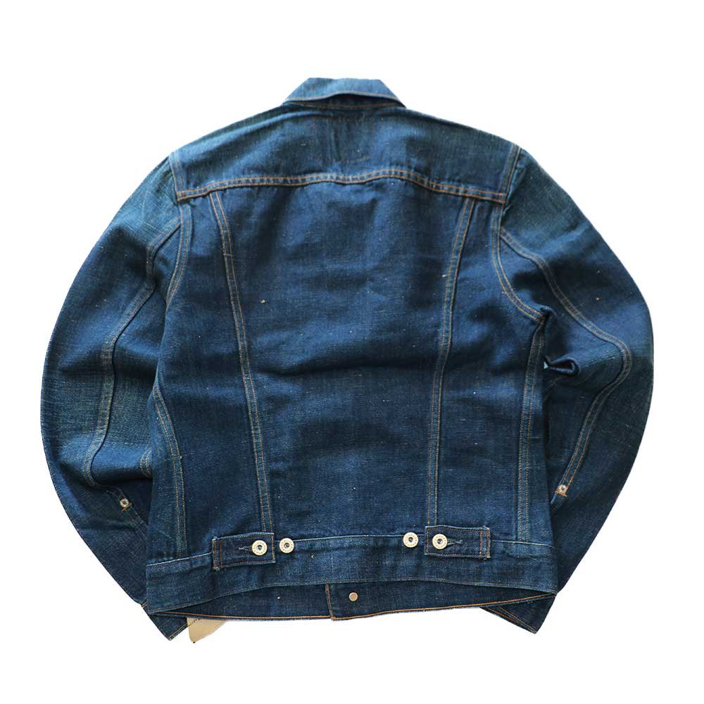 w-means(ダブルミーンズ) Levis capital E デニムジャケット(Made in U.S.A.)表記S  インディゴブルー 詳細画像2