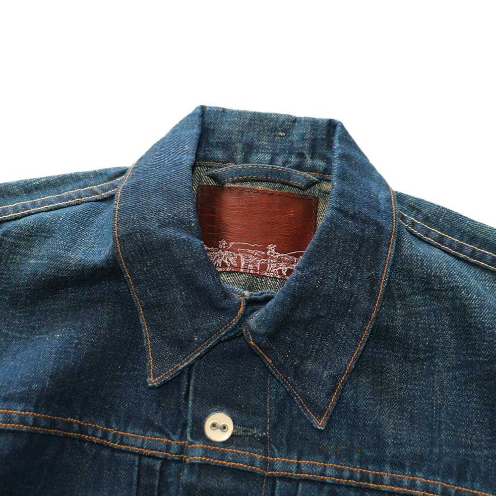 w-means(ダブルミーンズ) Levis capital E デニムジャケット(Made in U.S.A.)表記S  インディゴブルー 詳細画像3