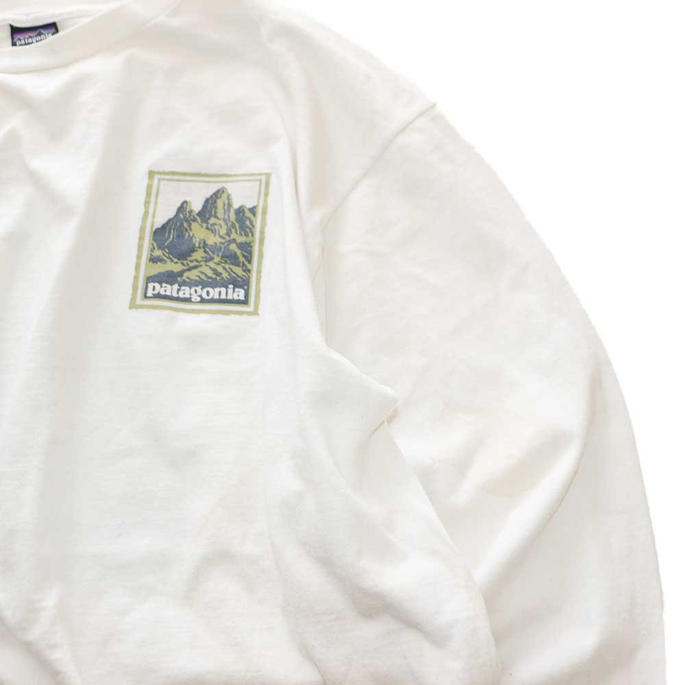 w-means(ダブルミーンズ) 90's Patagonia コットン長袖Tシャツ(Made in U.S.A.)表記L  生成色 詳細画像1