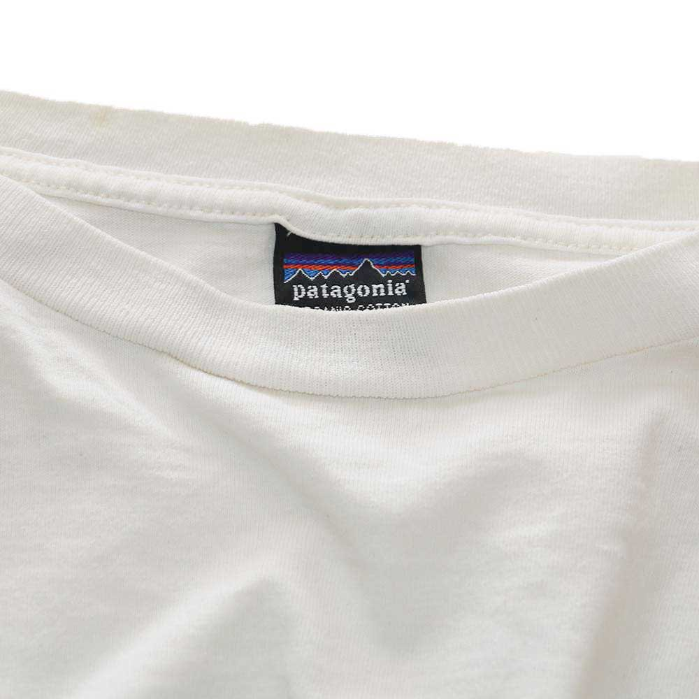 w-means(ダブルミーンズ) 90's Patagonia コットン長袖Tシャツ(Made in U.S.A.)表記L  生成色 詳細画像2