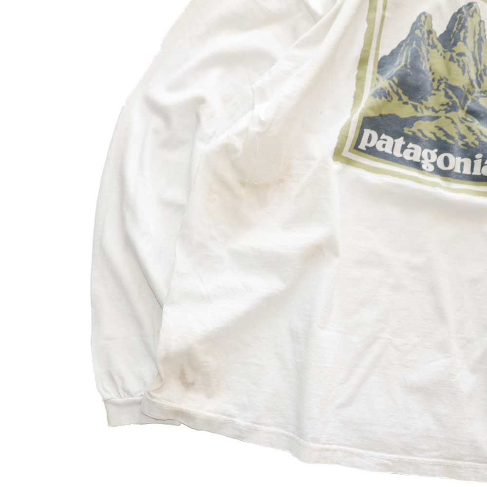 w-means(ダブルミーンズ) 90's Patagonia コットン長袖Tシャツ(Made in U.S.A.)表記L  生成色 詳細画像5