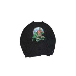 JANSPORT  コットン長袖Tシャツ   表記L  Black