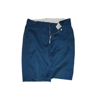 Dickies カットオフワークパンツ(Made in U.S.A.)表記34  NAVY