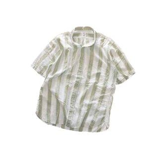 ARROW コットン半袖シャツ (MADE IN U.S.A.)表記L  ストライプ柄